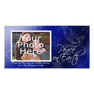 Paz no Natal da terra ou nos cartões com fotos de