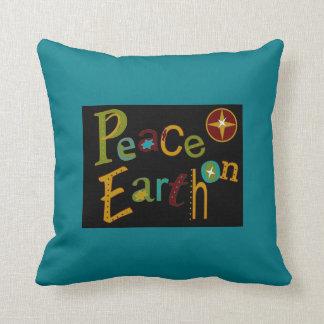 Paz no travesseiro da terra almofada