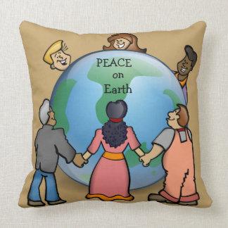 PAZ no travesseiro decorativo do design da terra Almofada