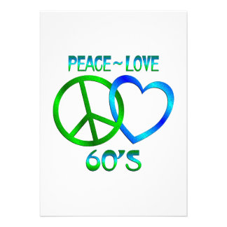 Paz - os anos 60 do amor convites personalizado