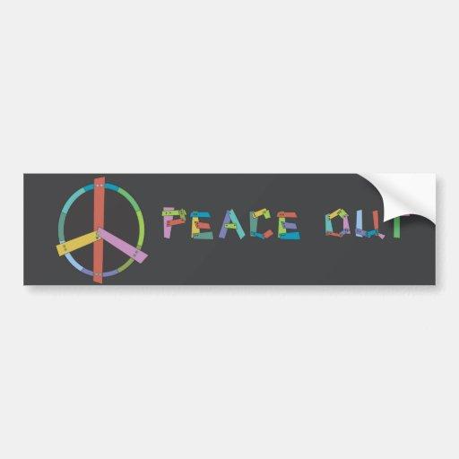 Paz para fora adesivos
