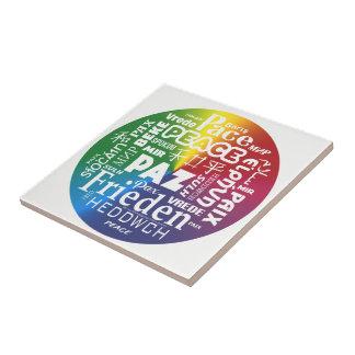 Paz Paz Pax da exposição do azulejo multilingue