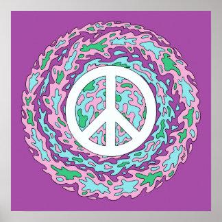 Paz psicadélico poster