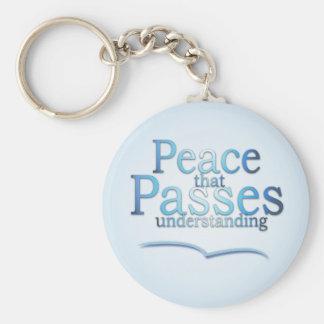 Paz que passa a corrente chave understading chaveiro