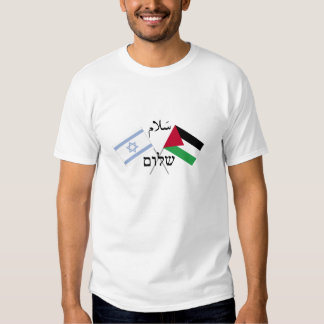 Paz Salam Shalom de Israel Palestina Tshirts