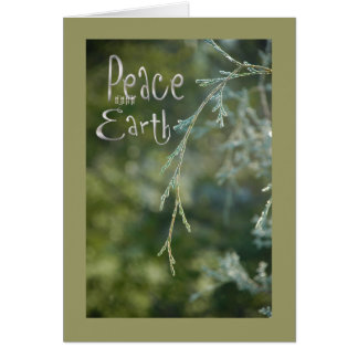 Paz verde no cartão de Natal da terra