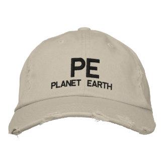 PE - boné de beisebol da terra do planeta
