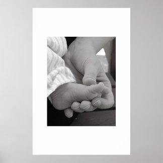 Pé do bebê pôster