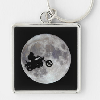 Pé grande, bicicleta grande e uma lua brilhante chaveiro