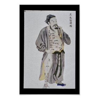 Pé meridiano Taiyin do baço da acupunctura Pôster