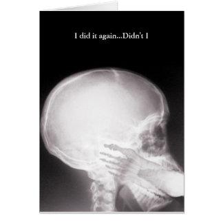 Pé na desculpa do raio X da boca Cartão