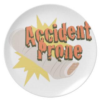 Pé propenso a los accidentes prato