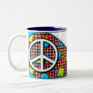 PeaceCup Caneca De Café Em Dois Tons