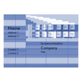 Peça do teclado - carnudo modelos cartões de visitas