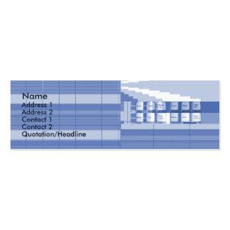 Peça do teclado - magro cartão de visita skinny