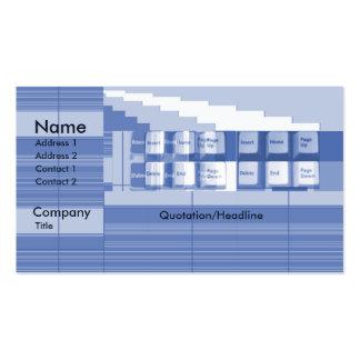 Peça do teclado - negócio cartão de visita