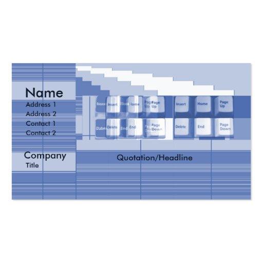 Peça do teclado - negócio modelos cartões de visitas