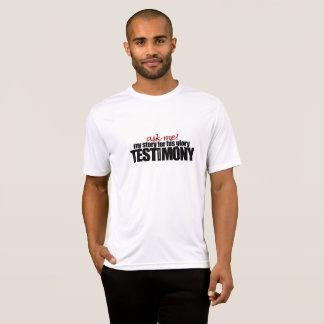 Peça-me meu testemunho! Homens da camisa de T