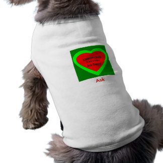 Peça -! UCreate pede o jGibney Zazzle Camisa Sem Mangas Para Cachorro