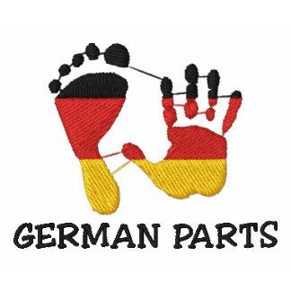 Peças alemãs engraçadas bordadas camisa polo
