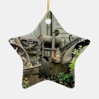 Peças do trator ornamento de cerâmica estrela