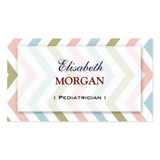 Pediatra - Chevron gracioso natural Modelos Cartões De Visitas