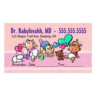 Pediatrician.Baby Doctor.Clinic.Appointment Cartão De Visita