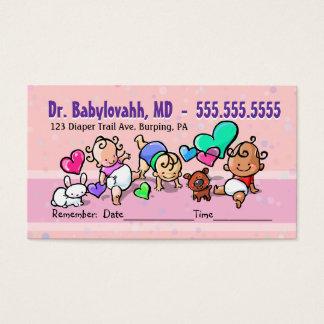 Pediatrician.Baby Doctor.Clinic.Appointment Cartão De Visitas