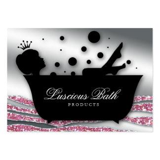 Pedicure das bolhas do salão de beleza do prego do cartão de visita