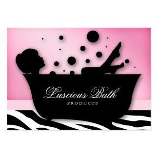 Pedicure das bolhas do salão de beleza do prego do modelos cartão de visita