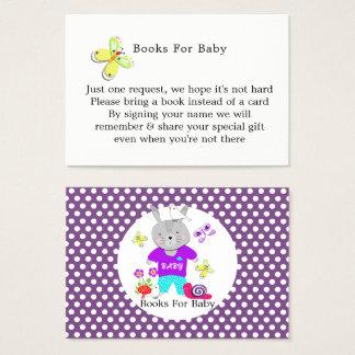 Pedido bonito do livro do bebê do coelho de coelho cartão de visitas
