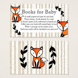 Pedido do livro das árvores do Fox da floresta & Cartão De Visitas