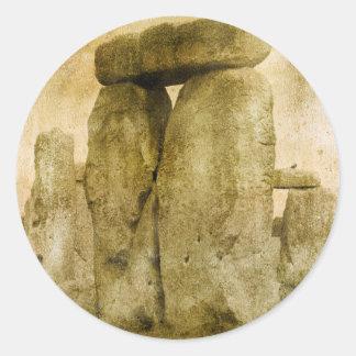 Pedra antiga adesivo redondo
