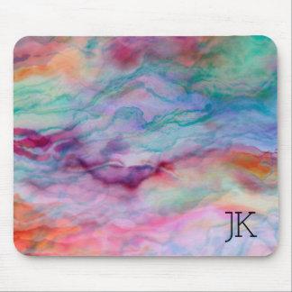 Pedra colorida da ágata do falso mouse pad