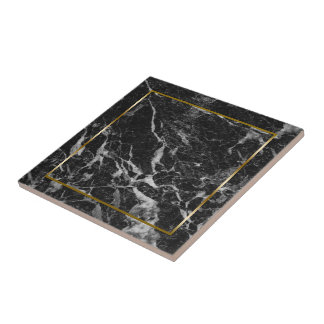 Pedra de mármore do falso preto e cinzento