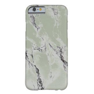 Pedra de mármore esverdeado das cinzas e do preto capa barely there para iPhone 6