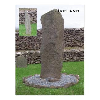 Pedra de Riasc, Kerry, Ireland Cartão Postal