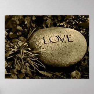"""Pedra do """"amor"""" pôster"""