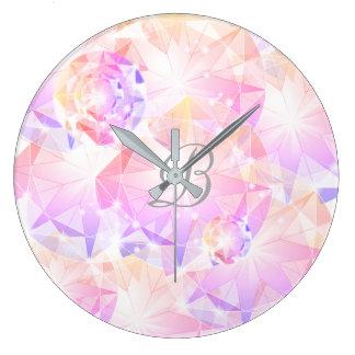 Pedra preciosa cor-de-rosa Rhinest do compasso da Relógio Grande