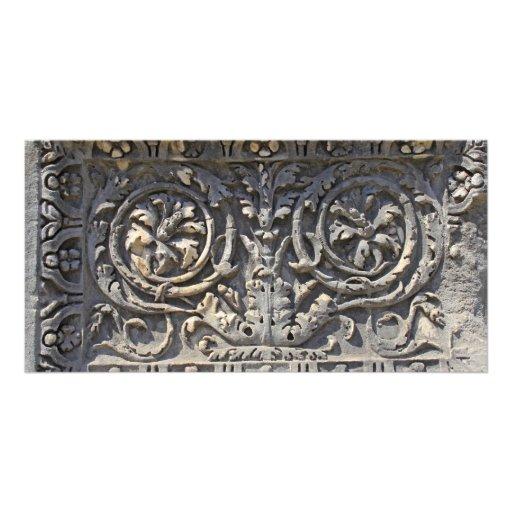 Pedra romana cartões com foto