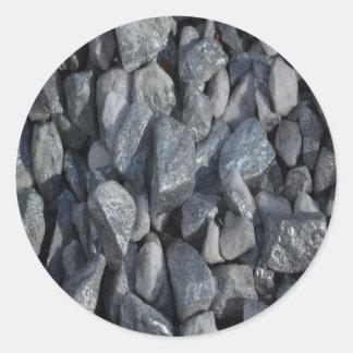 Pedras Cinza-Cinzentas por Khoncepts Adesivo Redondo