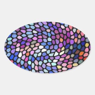 Pedras do vitral adesivo oval