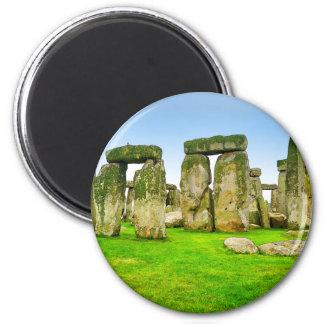 Pedras eretas antigas de Stonehenge na arte do Ímã Redondo 5.08cm