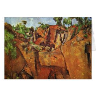 Pedreira Bibémus por Paul Cézanne a melhor qualid Cartão