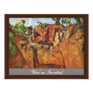 Pedreira Bibémus por Paul Cézanne a melhor qualid Convites