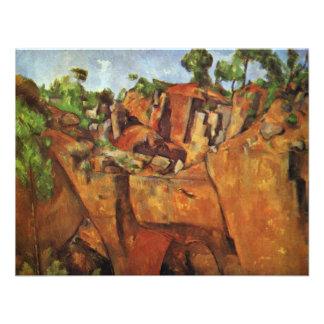 Pedreira Bibémus por Paul Cézanne a melhor qualid Convite