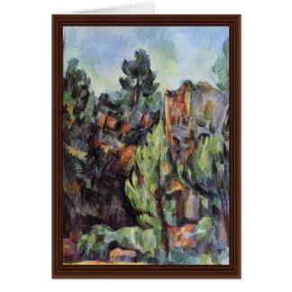 Pedreira em Bibémus por Paul Cézanne a melhor qua Cartões