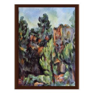 Pedreira em Bibémus por Paul Cézanne a melhor qua Cartao Postal