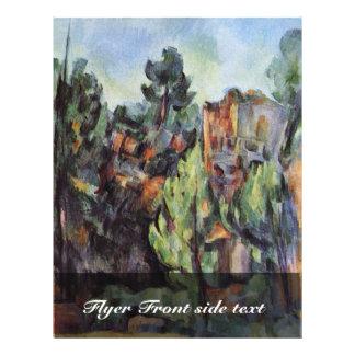 Pedreira em Bibémus por Paul Cézanne (a melhor qua Modelo De Panfletos