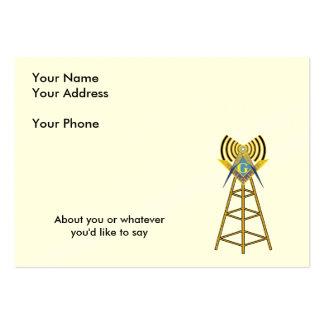 Pedreiro do radioamador cartão de visita